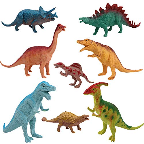 Dinosaurier Figuren Set Kunststoff Dinosaurier Größe für Kinder Bildung Geschenke Kindergeburtstag Party Dekoration 8 Stück