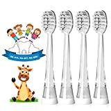 Seago Elektrische Zahnbürste Aufsteckbürsten 4 Stück, Weiche Borste, für Seago Elektrische Zahnbürste SG-G513, SG-977 Series, 10x mehr Plaqueentfernung, Weiß von Seago, Klein-6 Monaten bis 4 Jahren