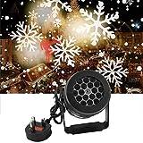 Proyector de luces navideñas nevadas para exteriores, LED, impermeable, giratorio, con copo de nieve, iluminación de paisaje para Navidad, vacaciones, interior, fiesta en casa, año nuevo, decoración