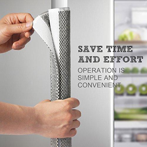 "Refrigerator Door Handle Cover Kitchen Appliance Decor Handles Antiskid Protector Gloves for Fridge Oven Keep off Fingerprints,Liquid,Oil Stain,Food Spot,2 pieces (16""4"", Plush)"