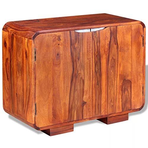 FTFTO Dekorationszubehör Moderne Sideboards Braun mit 2 Fächern Sideboard Sideboard Sideboard Massivholz Maße: 75 x 35 x 60 cm