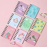 Cuaderno de Bolsillo, XiYee 8 Piezas Portátil Mini Hoja de Cuaderno, Patrón de Dibujos Animados Lindo, Bonito Diario,...