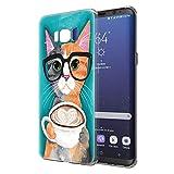 Pnakqil Funda Samsung Galaxy S8 Transparente Silicona Carcasa Ultrafina Suave Case Bumper Gel TPU...