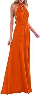 OBEEII Abito Donna Lungo Elegante Senza Maniche Sexy Multi Way Bandage Dress Vestito da Cerimonia Matrimonio Sposa Damigel...