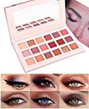 Glitter Eyeshadow Makeup Palette -Small Sequins Shimmer Matte Eyeshadow Professional Makeup Natural Long Lasting Waterproof Eye Shadow (18 Colors)