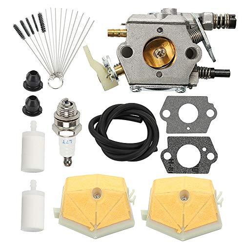 Coolwind WT-170 Vergaser mit Luftfilter-Reiniger Werkzeug Tune Up Kit für Husqvarna 51 55 Kettensäge WT-170-1 503281504