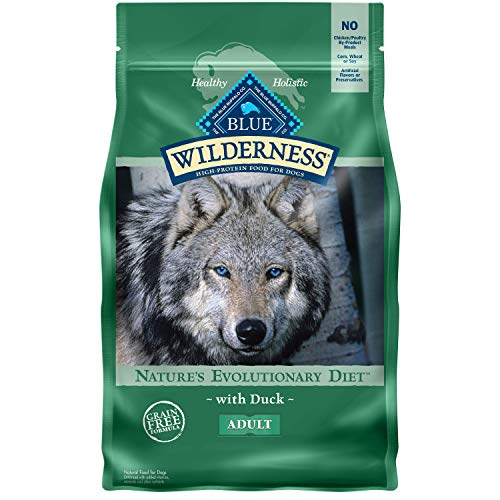 Blue Buffalo Wilderness High Protein, Natural Adult Dry Dog Food, Duck 4.5-lb