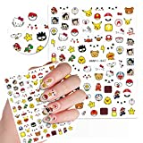 Cute Kawaii Cartoon Nail Stickers for Women, Girls, Gift (75+ Decals) (Style 3)