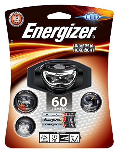 Energizer Headlight 3Led Linterna, Negro