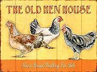The Old Hen House Rare Breeds ティンサイン ポスター ン サイン プレート ブリキ看板 ホーム バーために