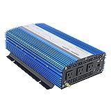 AIMS Power 1500 Watt, 3000 Watt Peak, Pure Sine DC to AC Power Inverter, USB Port, 2 Year Warranty, Optional Remote, Listed to UL 458