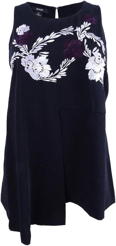 Alfani Plus Size Embroidered Peplum Tunic