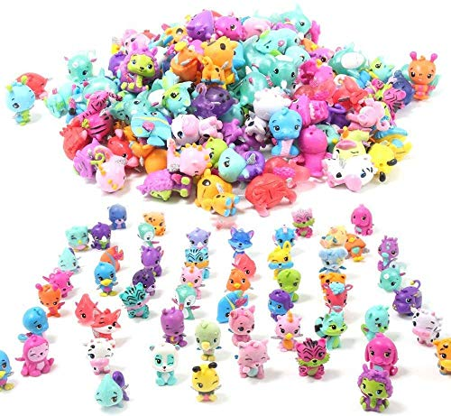 QTFHR Cute Miniature Random Pet Doll, Mini Cute Pets Cake/ Plant/ Car Decoration (30 Pcs)