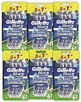 Gillette Blue3 Football Jednorazowa maszynka do golenia dla mężczyzn, 6 x 6 sztuk