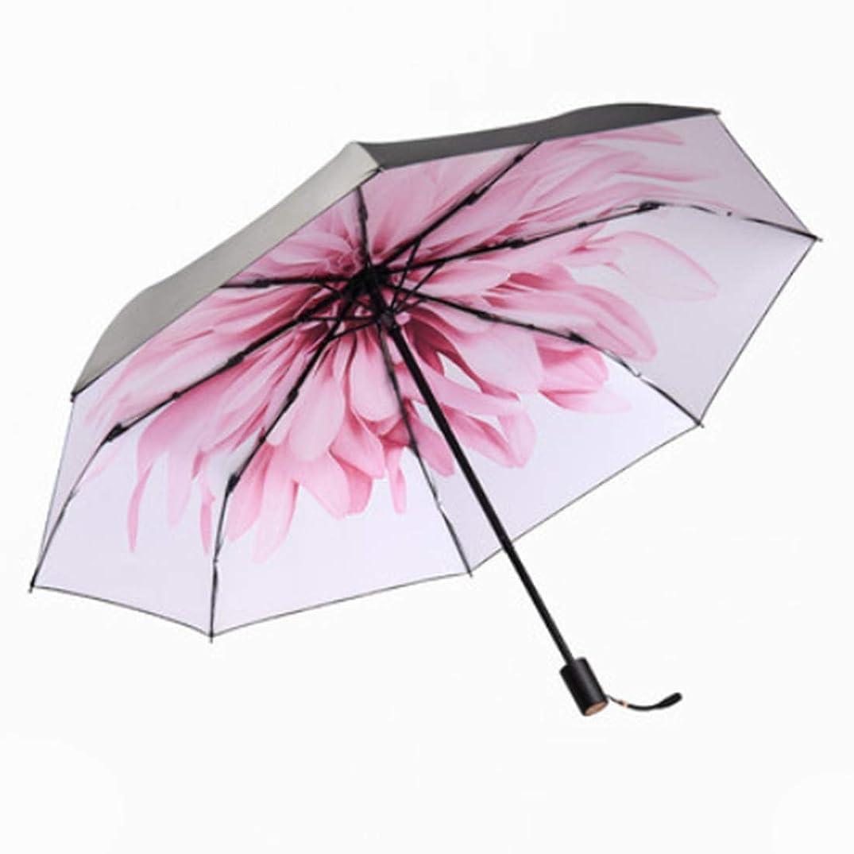 激怒負荷開梱Electrost 女性の黒い紫外線の保護日焼け止めの傘夏の小さな折りたたみ太陽の傘女性のための (色 : ホワイト)