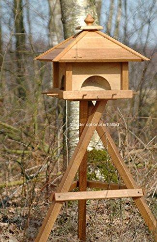 Luxus-Vogelhaus 46700e Großes XXL Vogelhaus aus Holz (Eiche) mit 4 herausziehbaren Futterspender-Schubladen, für Garten, Balkon – XL Vogelhäuschen Vogelfutterhaus - 4