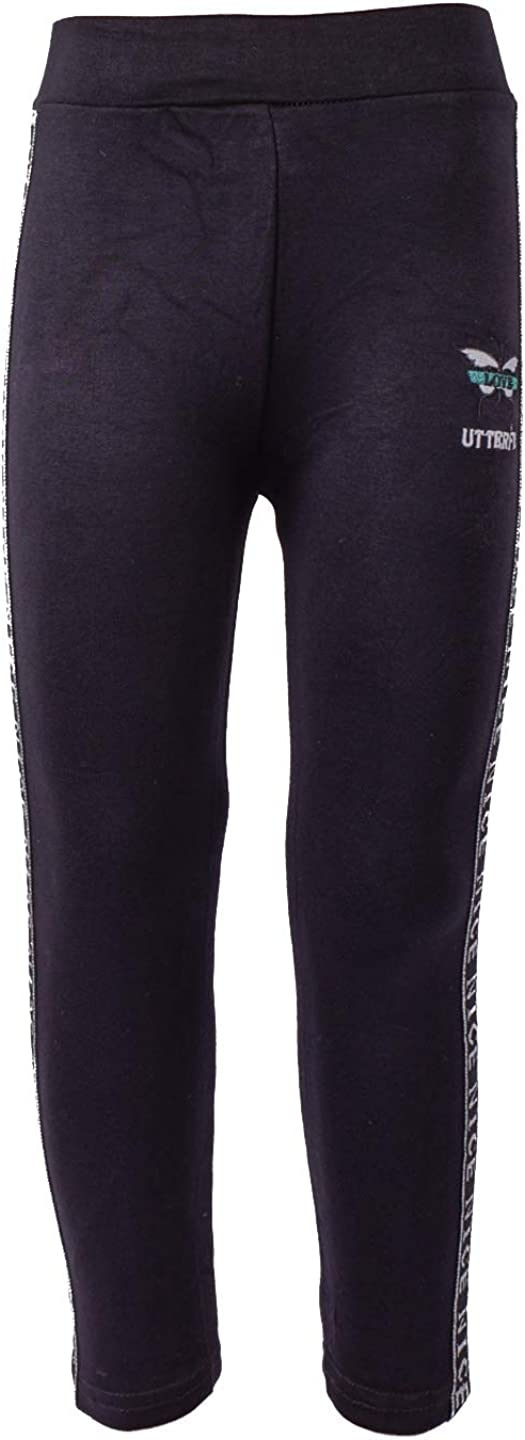 Zoloto Gifts Leggings for Girls with Philadelphia Mall Black Applique and Stripes