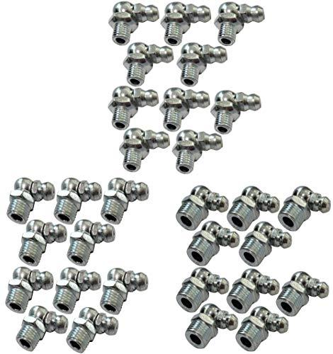 AERZETIX - 3x10 - Engrasadores - Boquilla de engrase - 90° Ángulo - Rosca M6 M8 M10 - C18623A