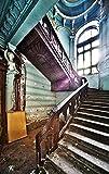 TRENDECOR - Cuadros Impresión Digital - Fotografía Escaleras I sobre Cristal Templado (90x60)