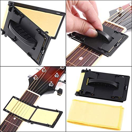Iriisy Limpiador De Cuerdas Para Guitarra, Guitarra Cuerda Limpiador, Limpiador de Cuerdas, Instrumentos Cuidado de Mantenimiento Limpiador, para Guitarra, Bajo, Mandolina, Ukelele