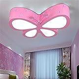 Malovecf - Lampada da soffitto per la cameretta dei bambini, luce a LED, lampadario a forma di farfalla, illuminazione degli ambienti ottimale, 50 x 40 x 10 cm, 24 W, luce bianca