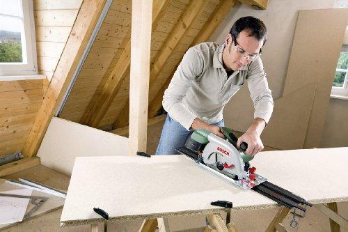 Bosch DIY Kreissäge PKS 66 AF, 1 Hartmetallsägeblatt Speedline Wood, Parallelanschlag, Führungsschiene, Karton (1600 W, Schnitttiefenbereich bei 90° 0-66 mm, Kreissägeblatt Nenn-Ø 190 mm) - 2