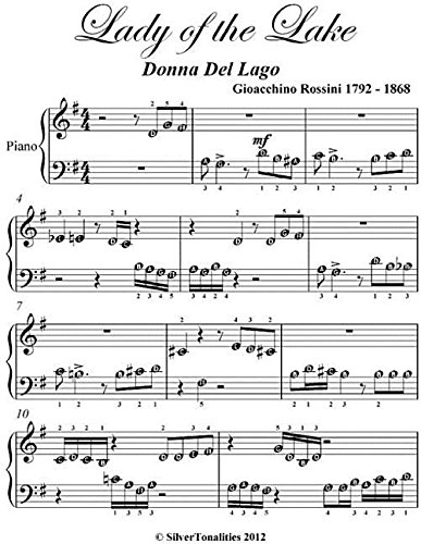 Lady of the Lake Donna Del Lago Beginner Piano Sheet Music