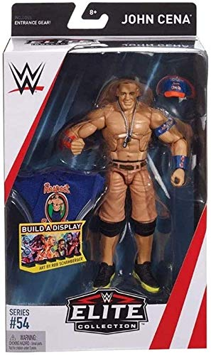 Mdcgok WWE Toys in 6 inch Scale Collector Elite Series John Cena (Blue T-Shirt) Atcion Figure Gifts for WWE Classic Wrestling Superstars Fans