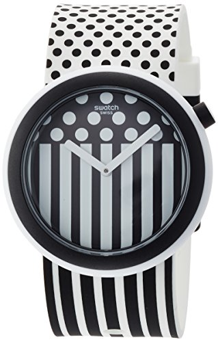 Swatch Damen Digital Quarz Uhr mit Silikon Armband PNW101