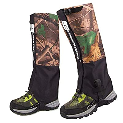 Outdoor Durable Waterproof Highly Breathable Hiking Climbing Hunting Double-deck High Leg Gaiters Snow Legging Leg Cover Wraps