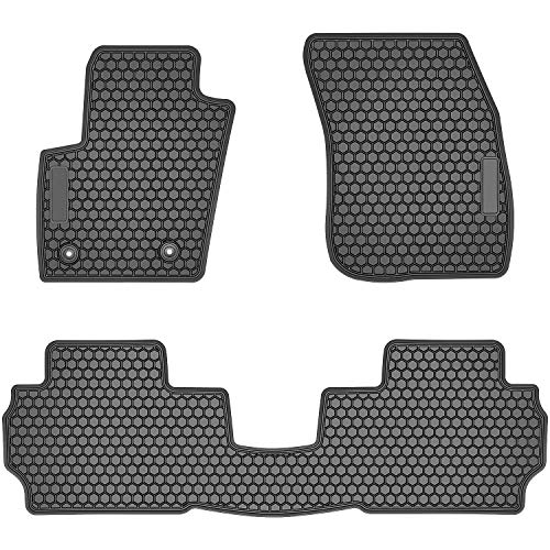 Bonbo Floor Liner Mats for Ford Fusion 2013-2019,Custom Fit,Front and Rear Seat Floor Mats,All-Weather Guard,Heavy Duty Rubber,Odorless(Pack of 3)