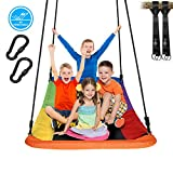 Trekassy 700lb Giant 60' Skycurve Platform Tree Swing for Kids and Adults Textilene Wear- Resistant with 2 Hanging Straps