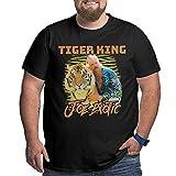 Camisetas Tiger King-Joe Exotic 90s Camiseta de Manga Corta de algodón de Gran tamaño para Hombre, Manga Corta para Entrenamiento, Uso Diario 2021