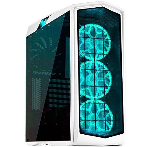 SilverStone SST-PM01W-RGB - Primera ATX Gaming Tower Gehäuse, hochleistungsfähiges Kühlsystem, mit Fenster und RGB LED, weiss