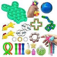 おもちゃ 24/50pcs感覚フィジットのおもちゃセットストレスリリーフの手のおもちゃ大人の子供Adhd不安自閉症束感覚玩具誕生日プレゼント (Color : 26pcs)