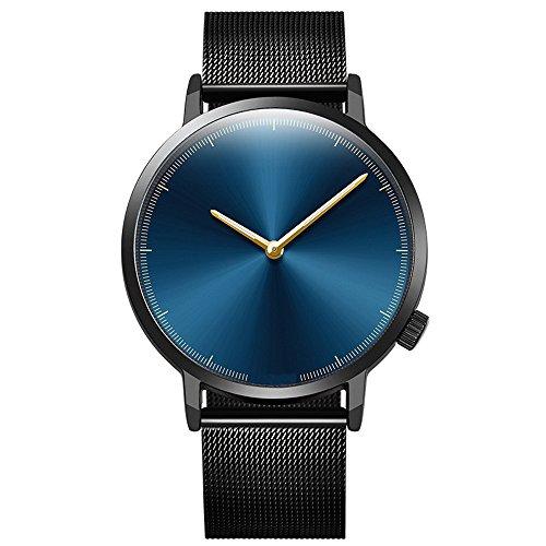 Bokeley Big Watches! Womens Watch, Fashion Classic Gold Geneva Quartz Stainless Steel Wrist Watch (D)