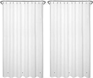 "LiBa PEVA 2 Pack 8G Bathroom Shower Curtain Liner, 72"" W x 72"" H, White 8G Heavy Duty Waterproof Shower Curtain Liner Ant..."