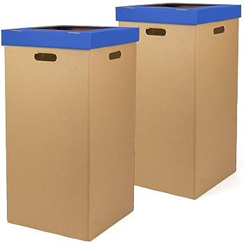 Kartox | Papelera de Cartón de Reciclaje | Automontable | Caja de Cartón para Reciclar | Lote de 2 unidades: Amazon.es: Oficina y papelería