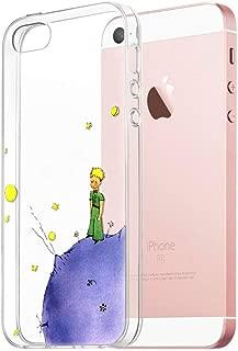 Funda iPhone SE, YOEDGE Ultra Slim Cárcasa Silicona Transparente con Dibujos Animados Diseño Patrón [El Principito] Resistente Bumper Case Cover para Apple iPhone SE / 5s / 5 Smartphone (Púrpura)
