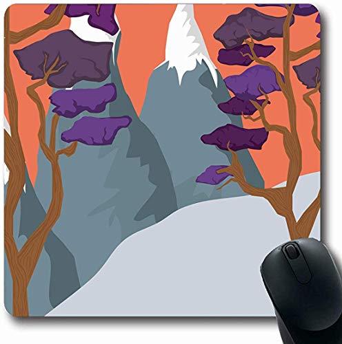 Mousepad Mousemat Text-Wanderung Glückliche Beschriftungs-Pfeil-Parks genießen Hipster-Grafik-Förster-Entwurfs-Reise-Form-rutschfeste Spiel-Mausunterlage 25X30CM