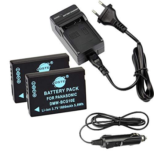 DSTE 2-pacco Ricambio Batteria + DC57E Caricabatteria per Panasonic DMW-BCG10 Lumix DMC-ZS1 DMC-ZS3 DMC-ZS5 DMC-ZS6 DMC-ZS7 DMC-ZS8 DMC-ZS9 DMC-ZS10 DMC-ZS15 DMC-ZS19 DMC-ZS20 DMC-ZS25 DMC-ZX1