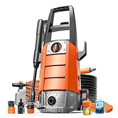 QXMEI Portable Electric High Pressure Cleaner?waterproofing Automatic Shutdown System Small Pressure Washer Which 2 Ways To Connect Water Sources Car Washing Machine,Orange-1600W by QXMEI