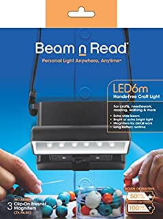 Beam n Read LED 6m Hands-Free Craft Light; Extra Wide & Extra Bright Light from 6 LEDs
