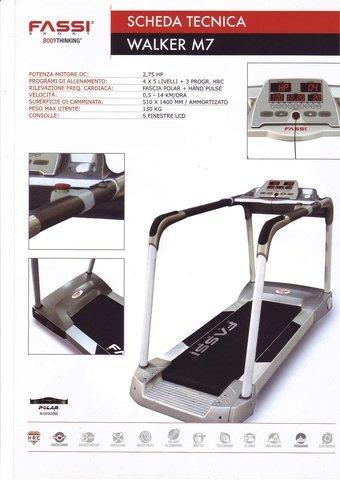 Tapis Roulant Fassi Walker M7