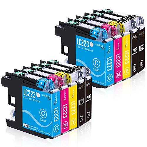 IUBEST Aktualisiert LC223XL Druckerpatronen Ersatz für Brother LC223 Patronen Kompatibel mit Brother DCP-J562DW J4120DW MFC-J5320DW J880DW J5620DW J5625DW J680DW J4625DW J5720DW J4420DW J4620DW J480DW