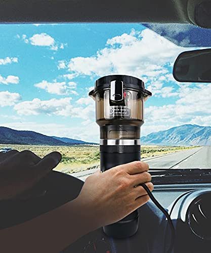 PAPA LONG Portable Single Serve Car Coffee Maker Brewer for K Cup Pods -12 Volt Coffee Maker for Truckers