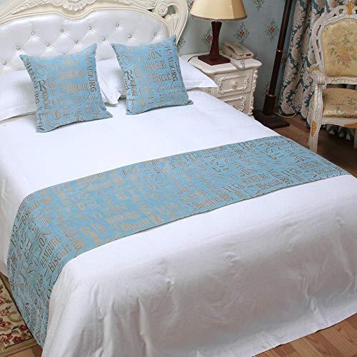 Q_STZPX Bett Renner bettläufer Hotel Bed and Breakfast Gehobene Moderne Einfache Neue Neue Chinesische Dekoration Im Chinesischen Stil Bettdekoration Streifenbett Flagge Bettdecke Fußabdeckung-Viole