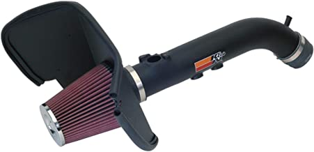 K&N Cold Air Intake Kit with Washable Air Filter: 1999-2004 Toyota (4Runner, Tacoma) 3,4L V6, Black HDPE Tube with Red Oiled Filter, 57-9015-1