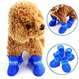 Pets Empire Silicone Rain Large Boots,Cute Little Pet Puppy Rain Boots Boots Candy