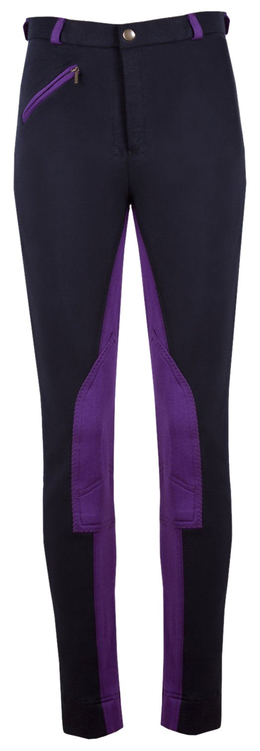 Ladies//Womens Horse Riding Jodhpurs//Jodphurs Black//Purple Quality Jodhpur